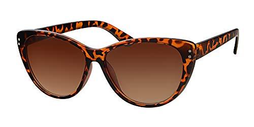Retro Katzen Eye Braun Schildkröte rahmen Sonnenbrille, mit gratis gelb Halskordel