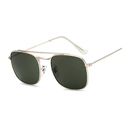 Chudanba Damen Sonnenbrillen Damen Herren Sonnenbrillen Damen Herren Shades Eyewear,Gold Green