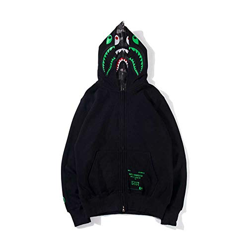 QYS New Graphic Shirt Bape Boys Girls Youth Felpa con Cappuccio,Verde,L