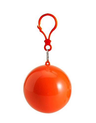 Notfall-Poncho Universum, idial für Festivals, klein und schnell verpackt, Regencape, Regenpocho, viele Farben Orange1