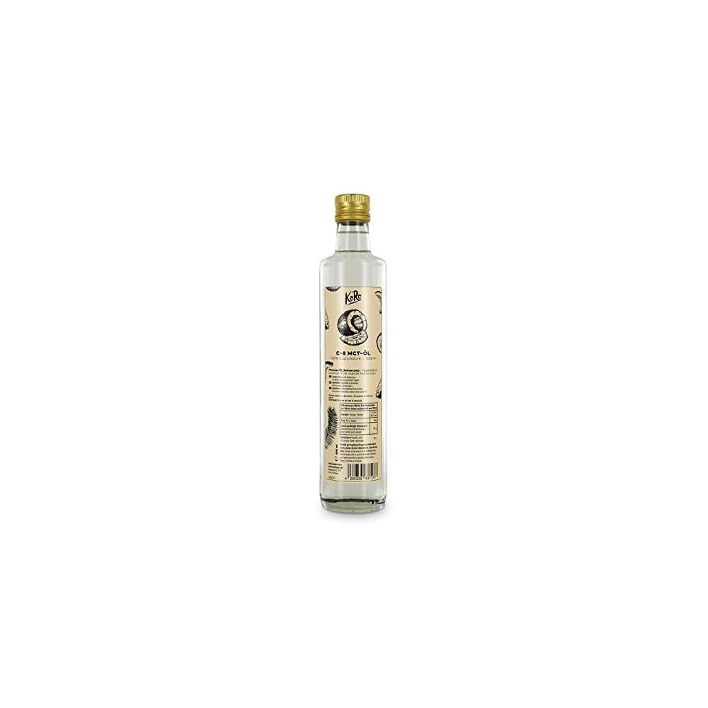 Koro C 8 Mct L 500 Ml 100 Caprylsure Aus Kokosl Der Perfekte Energielieferant Geschmacksneutral In Der Glasflasche