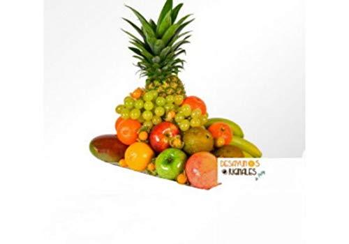 Contenido: Piña, Uvas Blancas, Naranjas, Mandarinas, Peras, Plátanos, Manzana Golden, Manzana Royal, Mango Bol o Cesta, Tarjeta dedicatoria