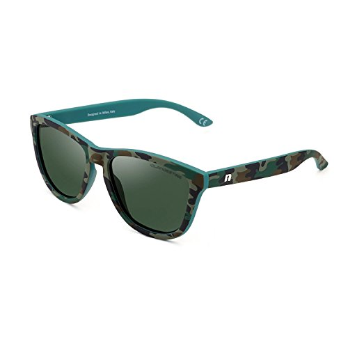 CLANDESTINE Model Camouflage Dark Green - Damen & Herren Polarisierte Sonnenbrillen