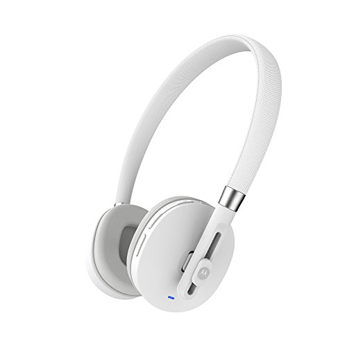 Motorola Wireless Bluetooth On-Ear Kopfhörer Stereo Headset - Moto Pulse - Weiß Moto Bluetooth-headset