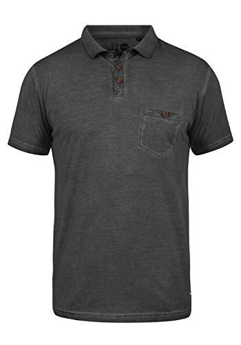 Über Golf-t-shirt (!Solid Termann Herren Poloshirt Polohemd T-Shirt Shirt mit Polokragen aus 100% Baumwolle, Größe:XXL, Farbe:Black (9000))