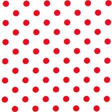 Polka Dot Weiß Basis mit roten Punkten PVC reinigen Tischdecke Wachstuch Vinyl 2Meter (Tischdecke Rot Dot Polka)