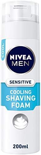 NIVEA MEN Sensitive Cooling Shaving Foam, Chamomile & Seaweed, 2