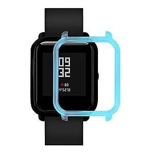 ⌚Watch Protector PC-Gehäuse Hülle für Xiaomi Huami Amazfit Bip Youth,Straps Silikon Uhrenarmband mit Schnellverschluss