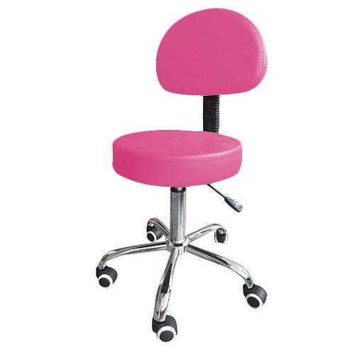 Mari lifestyle sgabello con schienale alzata gas da massaggio | imbottitura in schiuma leggera da 7,5 cm e struttura solida | sedile girevole e altezza regolabile | dimensioni: 37.5 x 37.5 x 48-61 cm