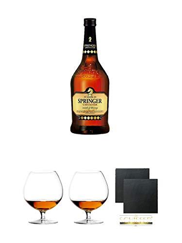 Springer Urvater Spirituosen Spezialität 0,7 Liter + Cognacglas / Schwenker Stölzle 1 Stück -...