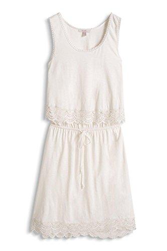 ESPRIT 066EE1E015 - Crochet Broder - Robe - Femme Blanc - Weiß (OFF WHITE 110)