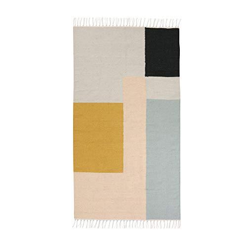 Ferm Living - Kelim Rug, Squares, klein - Kelim Teppiche Teppiche
