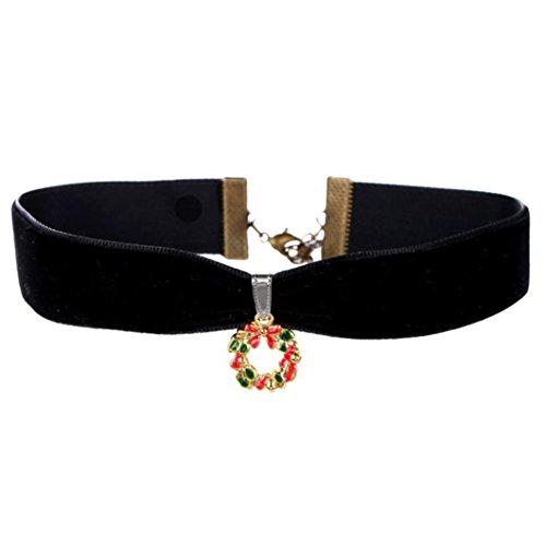 Weihnachten Halskette kinghard Weihnachten Flanell Anhänger Halskette, Socken, kleiner, Weihnachtsbaum H mehrfarbig