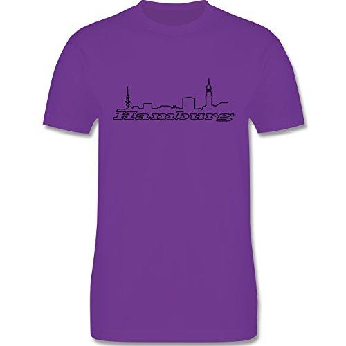 Skyline - Hamburg Skyline - Herren Premium T-Shirt Lila