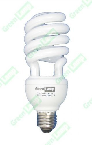 greenlamp Kompaktleuchtstofflampe, 20W (Lichtleistung entspricht 100W) Warm Weiß Energiesparend CFL E27Glühbirne ES 2700K - Cfl 100w Spirale Glühbirne