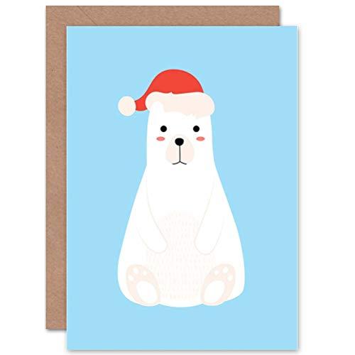 d Christmas Xmas Santa HAT Polar Bear Gift ()