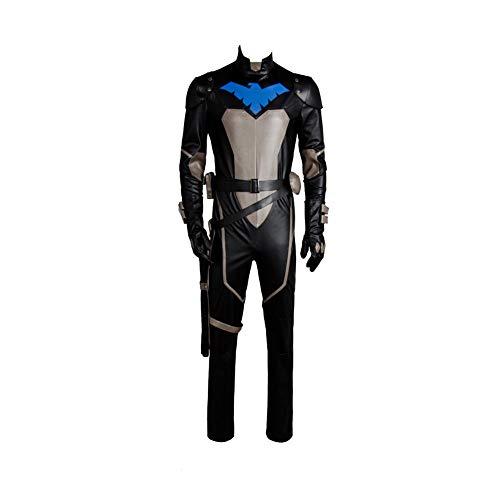 Young Justice Kostüm - MingoTor Superheld Uniform Jumpsuit Cosplay Kostüm Herren XS