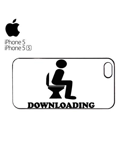 Downloading Toilet Mobile Cell Phone Case Cover iPhone 5c Black Blanc