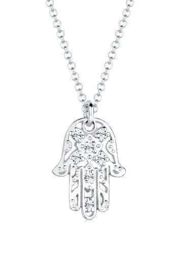 Eli - Collar con Colgante para Mujer de Plata de Ley con Cristales Swarovski 45 cm