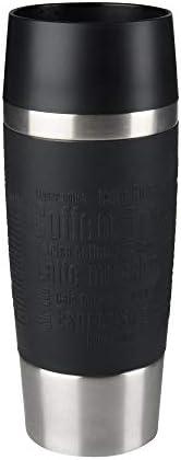 TEFAL 0.36 Litre Travel Mug , Black , Stainless Steel/Plastic, K3081114