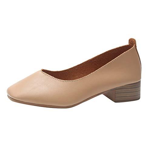 Damen Mode Flache Schuhe Mokassin,Women's Beiläufig Solide Erbsenschuhe Bootsschuhe Niedrigem Loafers Frauen Halbschuhe Fahren Schuhe Freizeit Slippers Segelschuhe Slippers TWBB