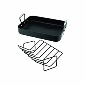 Horwood S676 36 x 27 cm Roasting Pan, Black