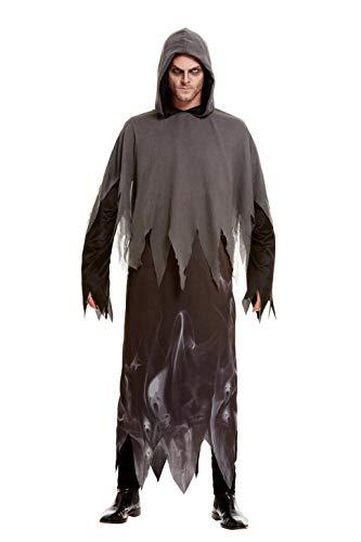Kostüm Ghoul Ghost - Smiffys 51068L Ghost Ghoul Kostüm, Unisex, Erwachsene, Schwarz, Größe L (106,7-111,8 cm)
