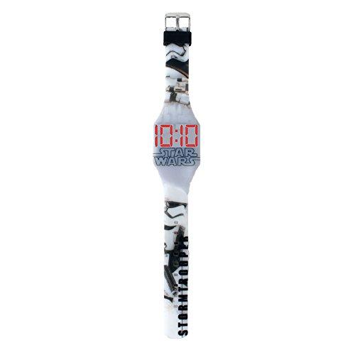 Disney's Design Star Wars LED Uhr Stormtrooper große Digitalanzeige