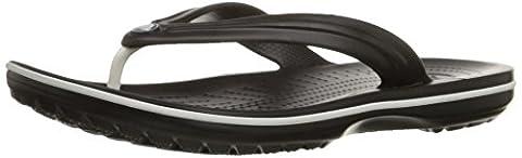 Crocs Crocband 11033 Flip Unisex Pantoffeln, schwarz (black 001), Gr. 38/39 EU