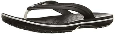 Crocs Unisex Crocband Black Flip Flop - M8W10