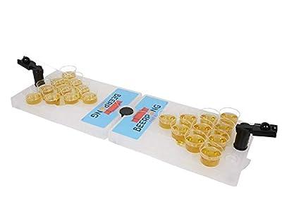 Mini jeu de bière Pong portable - Jeu amusant parfait pour les fêtes, les enterrements de vie de jeune fille.