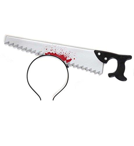 Preisvergleich Produktbild Halloween Haarreif mit Säge im Kopf Scherzartikel Horror Zombie Accessoire*Neu bei Pibivibi©