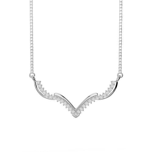Or blanc 18carats 0,30CT G-H/VS sertie de diamants ronds Cut Chaîne Ims-1752