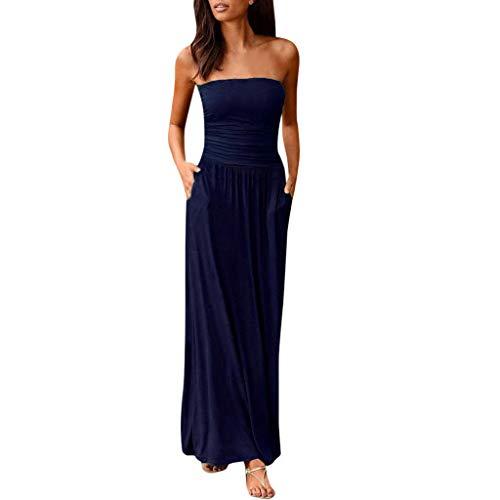 Kleider Damen Lang, Sommerkleid Partykleid O-Ausschnitt Sexy Elegant Lässig Unregelmäßige Kleider Damen Blusenkleid Ärmellos Kurzes Kleid Damen Sommer Maxikleid Cocktailkleid Strandklei - Baby Doll Cocktail-abend-kleid