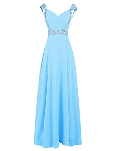 Dresstells, Robe de soirée de mariage/cérémonie/demoiselle d'honneur forme princesse col en cœur avec paillettes Pourpre