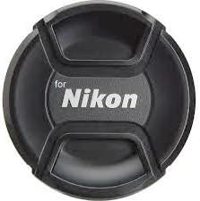 Shopee Replacement Center Pinch Lens Cap Cover 55mm For Nikon D5600, D3400 DSLR Camera With 18-55mm f/3.5-5.6G VR AF-P DX And 70-300mm f/4.5-6.3G ED