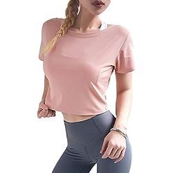 JSUMING Camisetas de Entrenamiento con Espalda Abierta