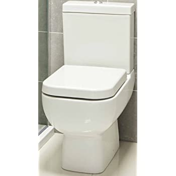 large square toilet seat. 600 Compact Bathroom Cloakroom Short Projection Close Coupled Space Saver Square  Toilet Pan WC Soft Seat Modern Ceramic White Cistern