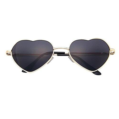 Brillen,Trada Mens Damen Metallrahmen Damen Herzform Sonnenbrille Lolita Love Hochzeit Hochzeitsdeko Hochzeitsbrille Sommerbrille Sonnenbrillen mit UV Schutz Unisex Herzbrille (E)
