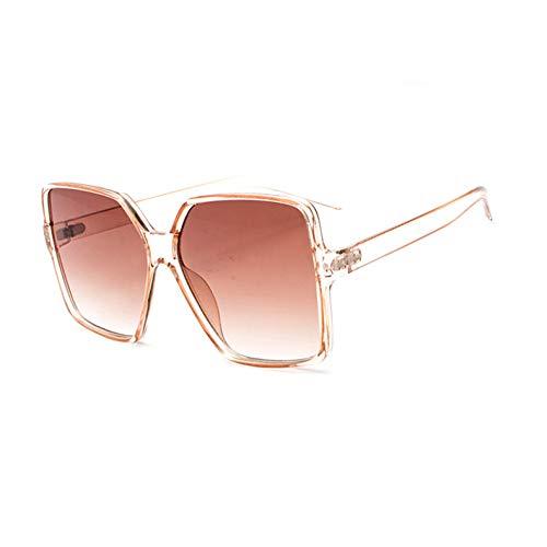 CCTYJ Sonnenbrillen Übergroße Sonnenbrille Frauen Sonnenbrille Big Frame Square Sonnenbrille Damen Gradient Lens Shades