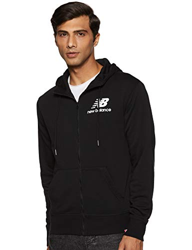 New Balance Herren Mj91549 Kapuzenpullover, Schwarz, Large (New Balance-performance)