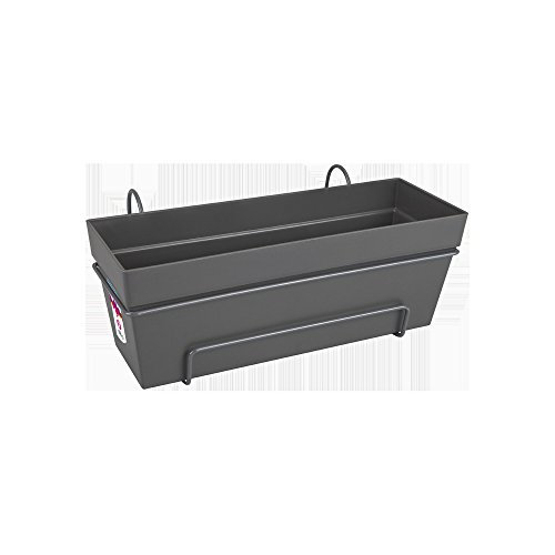 Elho loft urban trough all-in-one balcony planter 50cm - anthracite