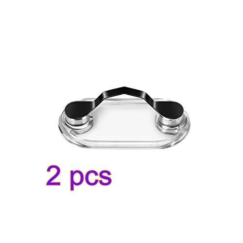 YD Magnetischer Brillenhalter Kunststoff Brosche Pin Clip an Kleidung für Brille Kopfhörer Drähte Arbeitskarte Magnetische Brosche, Plastik, Schwarz, 2pcs