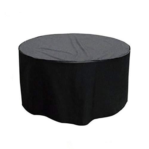 YUBU Bâche, couverture de table ronde de meubles de jardin en plein air Table de couverture de meubles de jardin en plein air et housse de protection contre la pluie pour housse de protection contre l