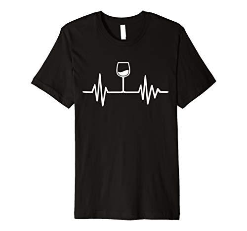 Wein-grünes T-shirt (Wein Frequenz T-Shirt)