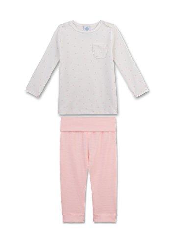 Sanetta Baby-Mädchen Zweiteiliger Schlafanzug 221362, Beige (Broken White 1427), 86