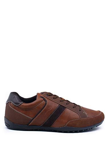 Geox Hombre mínimo GARLAN, de Caballero Zapatillas,Zapatos Deportivos,Zapatillas con Cordones,Transpirable,Calzado,Sneaker,Brown,40...