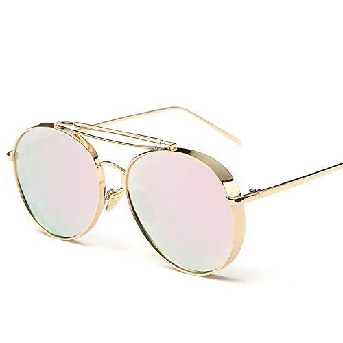 Sonnenbrillen. Retro Pilot Sonnenbrille Frauen Gespiegelt Steampunk Runder Kreis Schattierungen Vintage Outdoor Reisen Sommer Staub Uv400 Gold Rosa