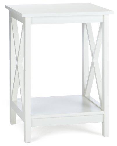 Phoenix 125102WE - Mesa auxiliar con estante inferior, color blanco