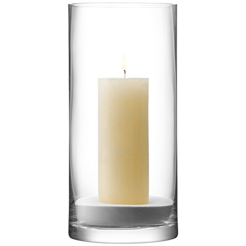 Lsa International 36 Cm Column Vase/candleholder, Clear